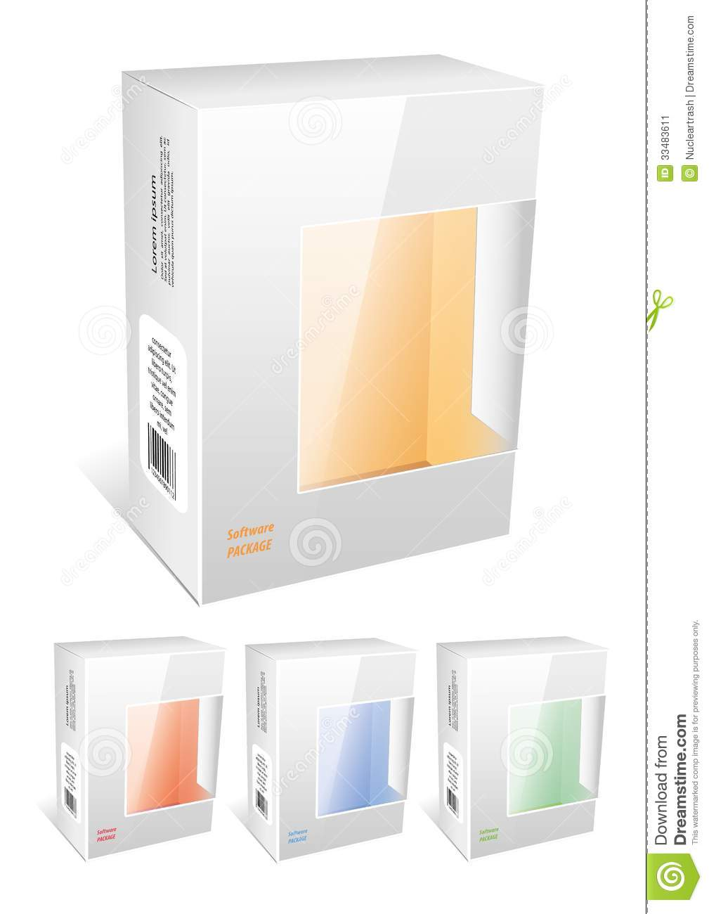 Mockup Box Open Free Package Box Stock Vector. Image Of Container, Packaging