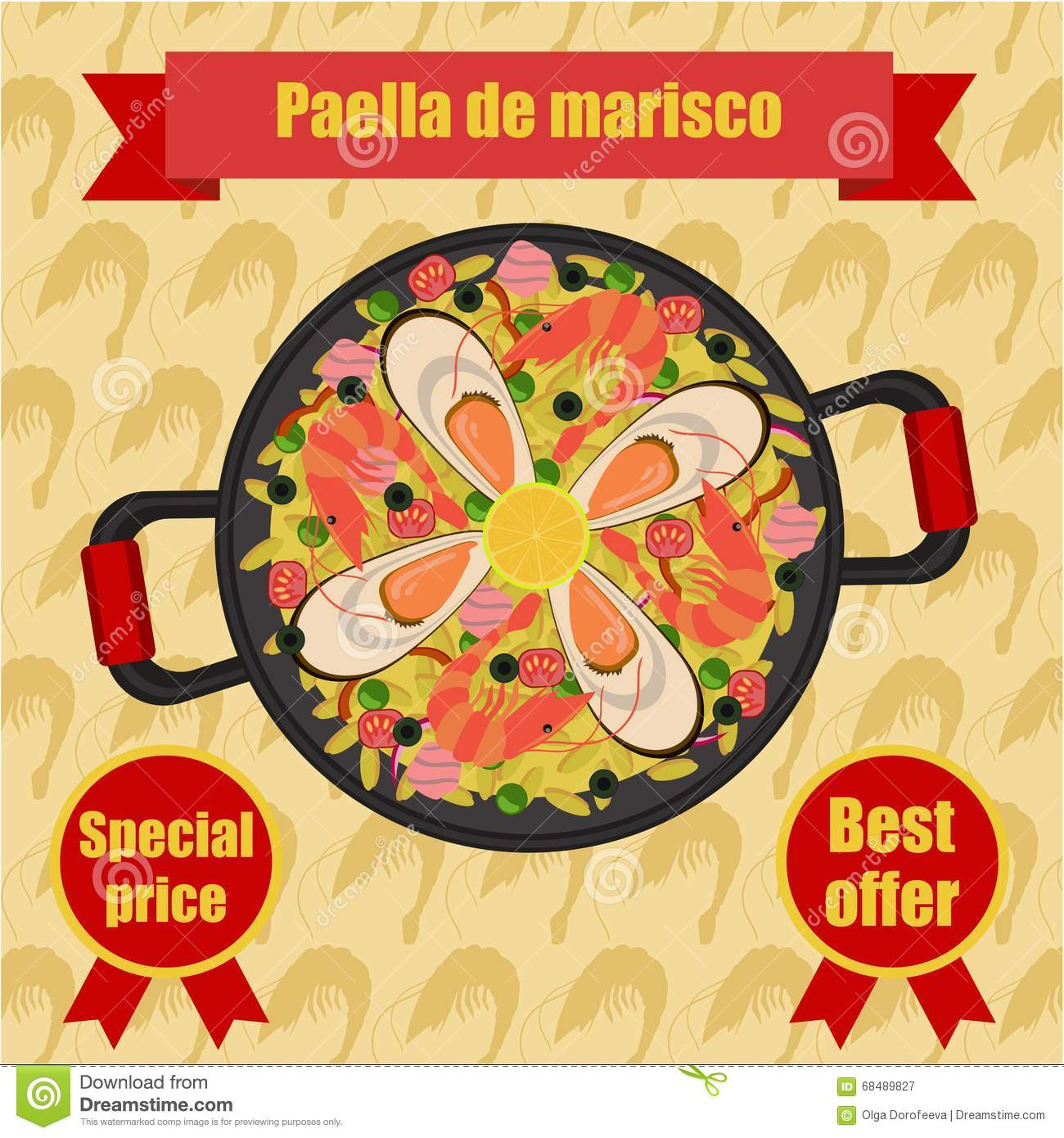 Paella on white vector stock vector image 68986544 - Paella On White Vector Stock Vector Image 68986544 Paella Vector Illustration Download
