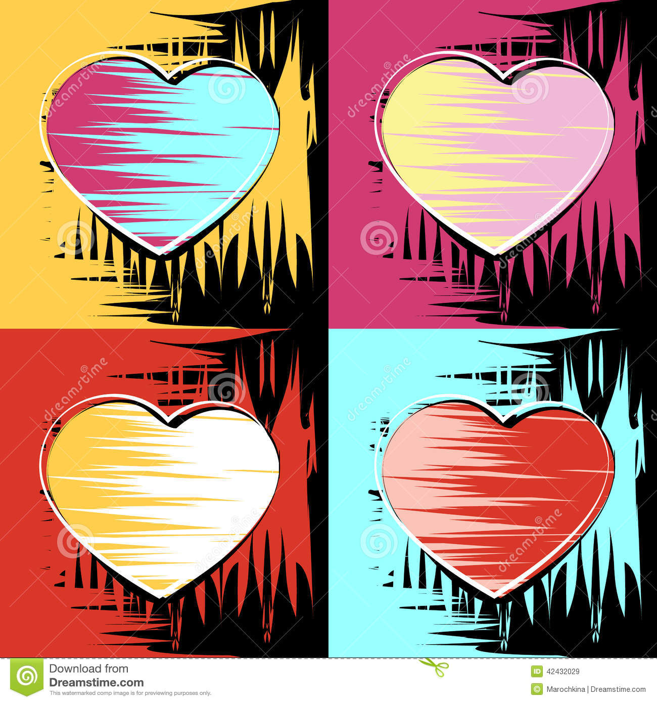 Pinturas De Andy Warhol Painting In The Style Of Andy Warhol Stock Vector Image