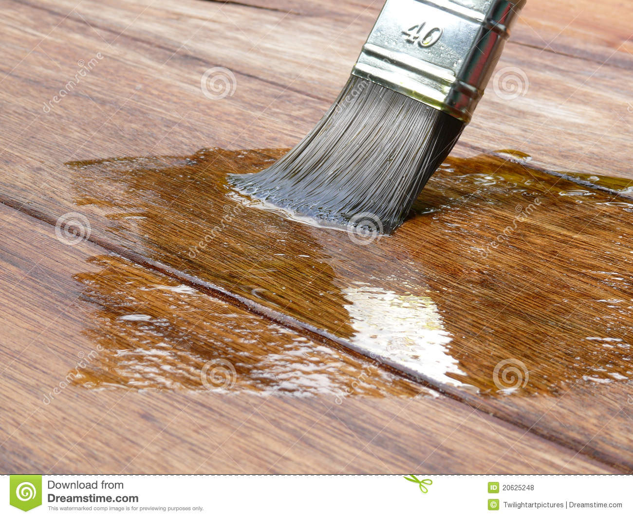 Holzdielen Lackieren Painting Wood Stock Photo. Image Of Paint, Exterior
