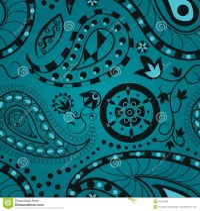 Paisley Seamless Pattern stock vector. Illustration of ...