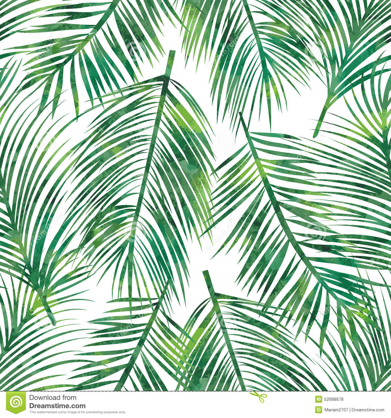 3d Wallpaper For Bedroom Walls Palm Leaf Seamless Pattern Stock Vector Image 52688678