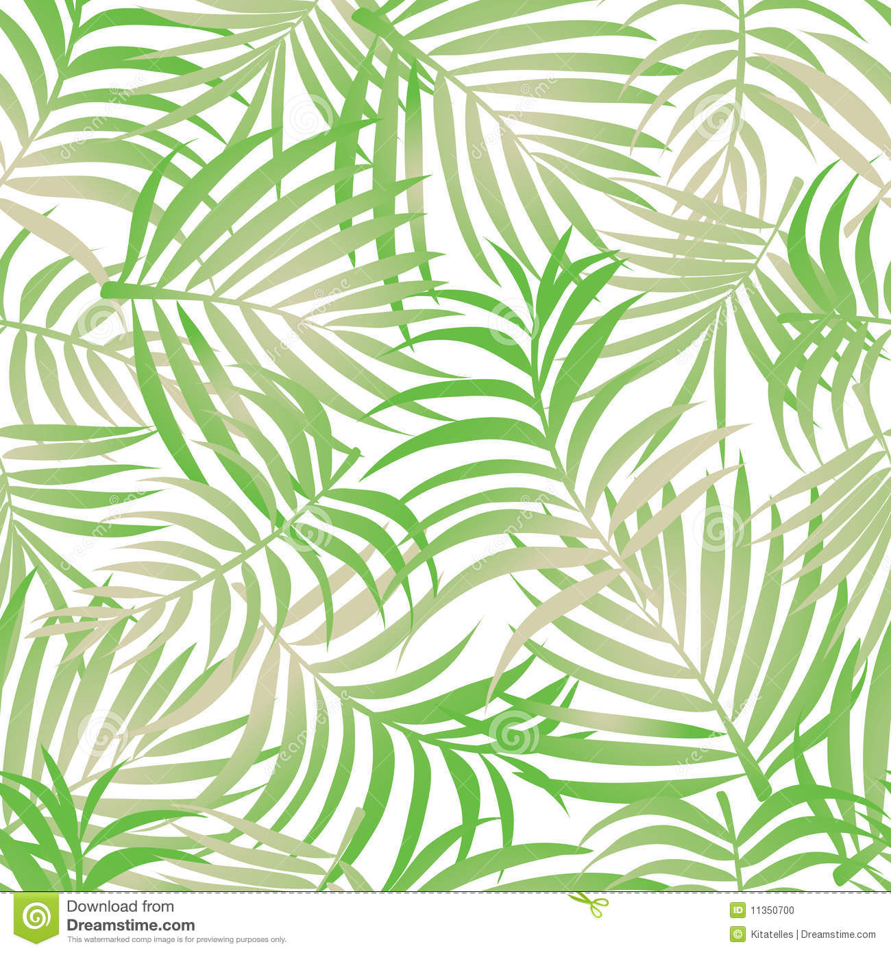 3d Beach Wallpaper For Walls Palm Leaves Pattern Background Stock Illustration