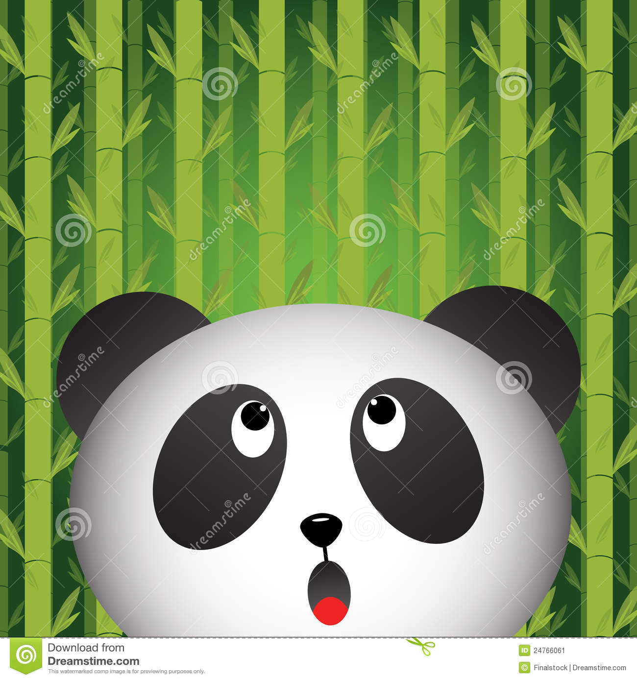 Hd Cute Panda Wallpaper Panda With Bamboo Background Stock Image Image 24766061