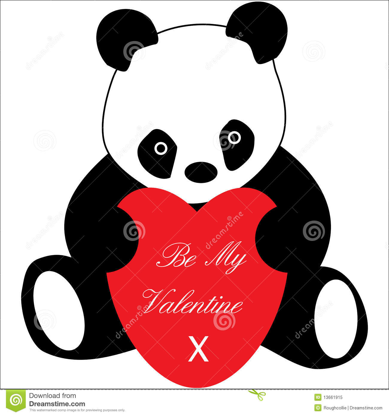 Ali 3d Name Wallpaper Free Download Panda With Love Heart Valentines Royalty Free Stock Photo