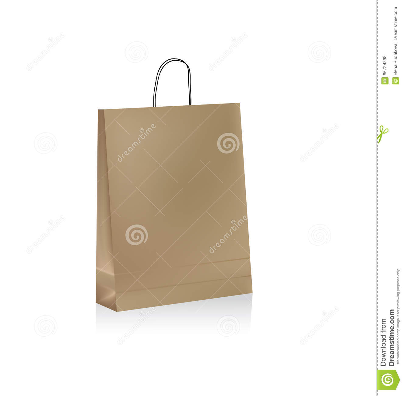 Brown Paper Bags With Handles Kmart Paper Bag Stock Vector Image 66724398