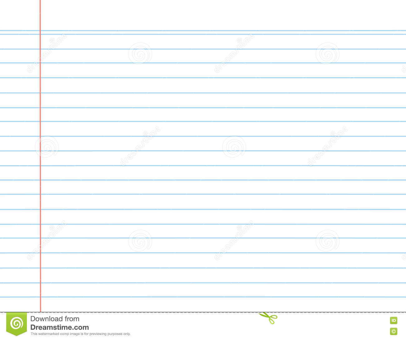lined paper word template