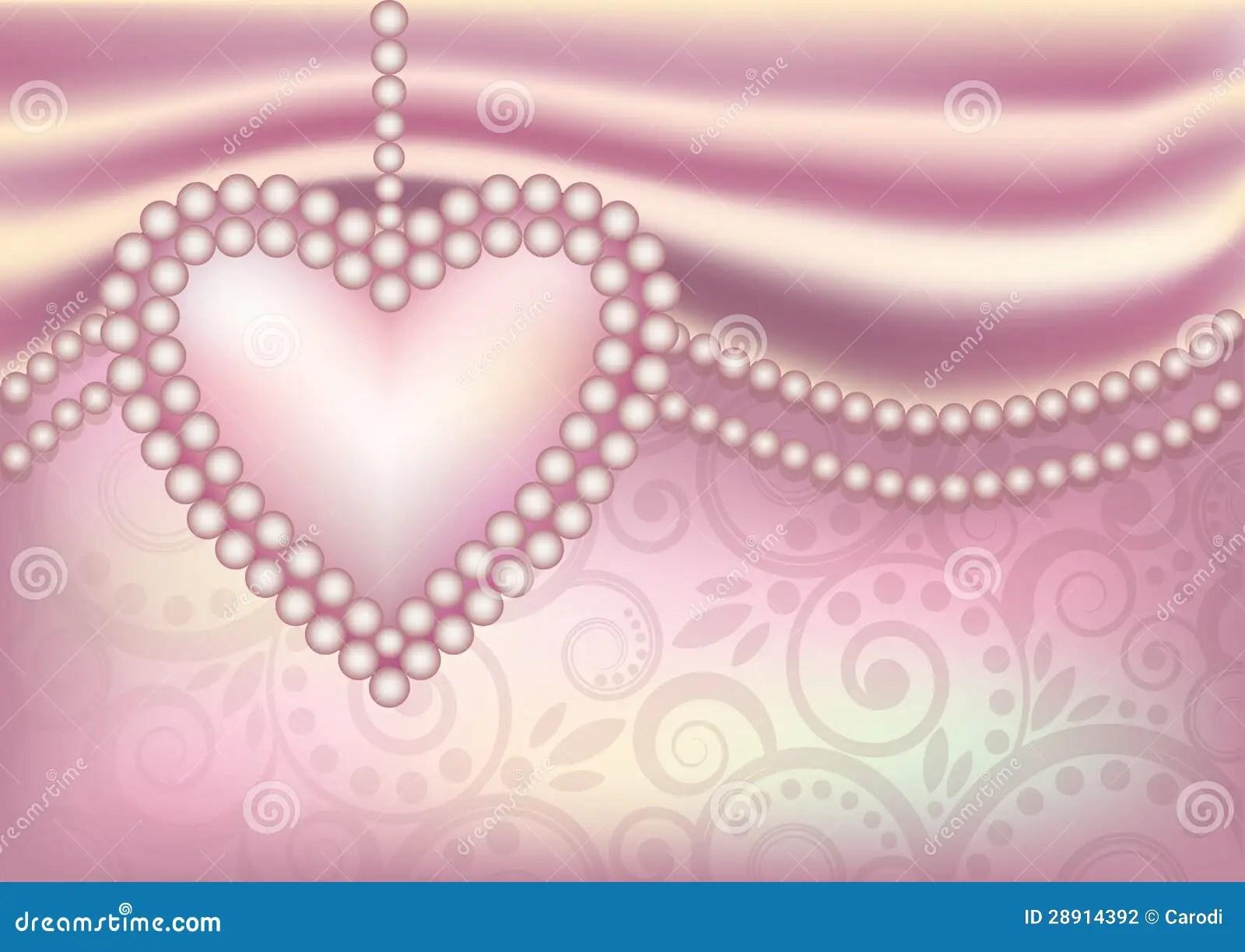3d Flower Wallpaper For Pc Papier Peint De Mariage Avec Le Coeur De Perle