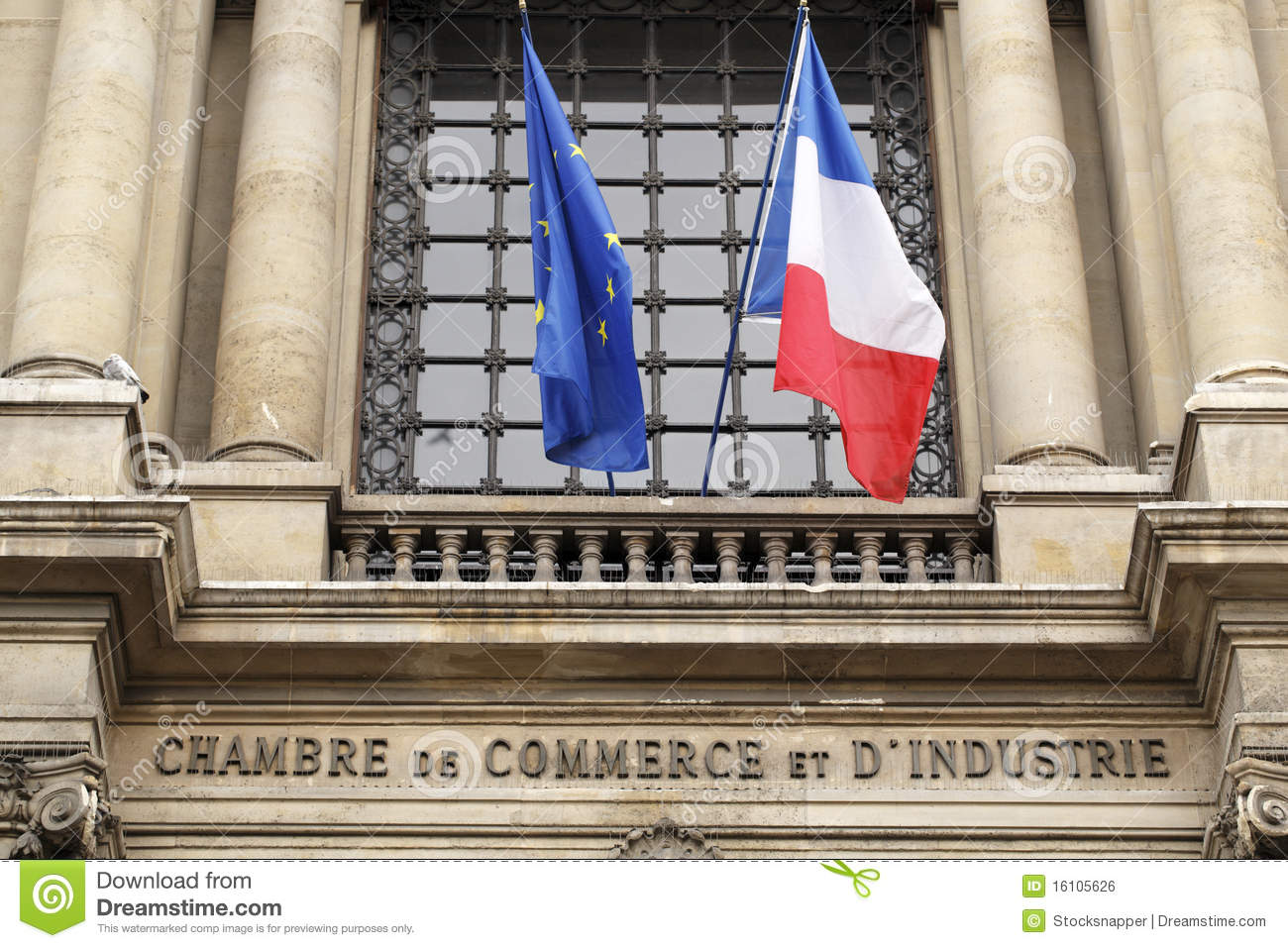 Chambre De Paris The Paris Chamber Of Commerce Stock Photo Image Of Chamber