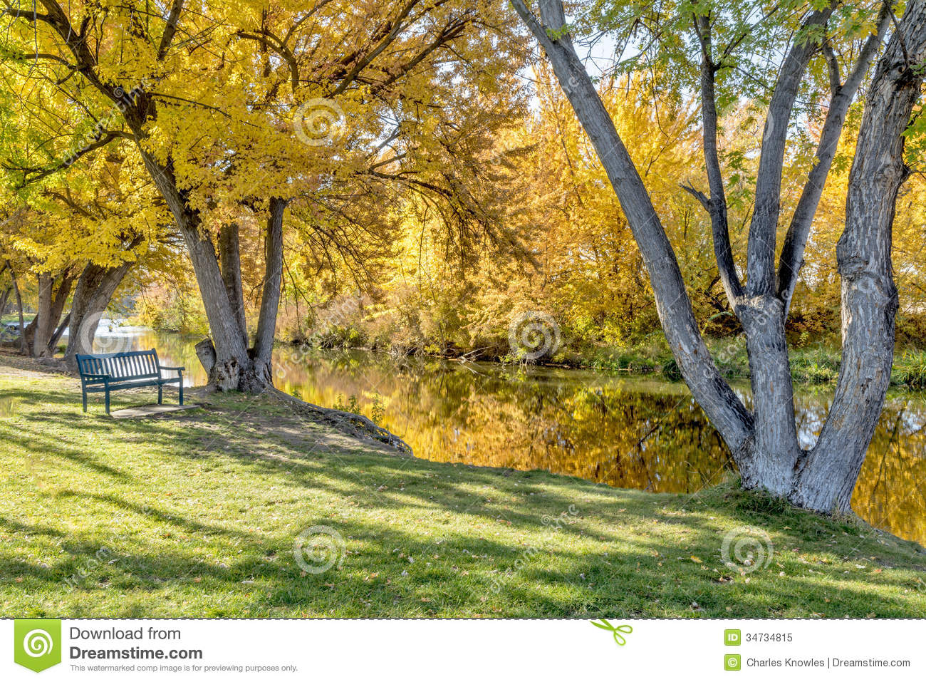 Falls Wallpaper Download Park Bench Along The Boise River In Idaho Autumn Royalty