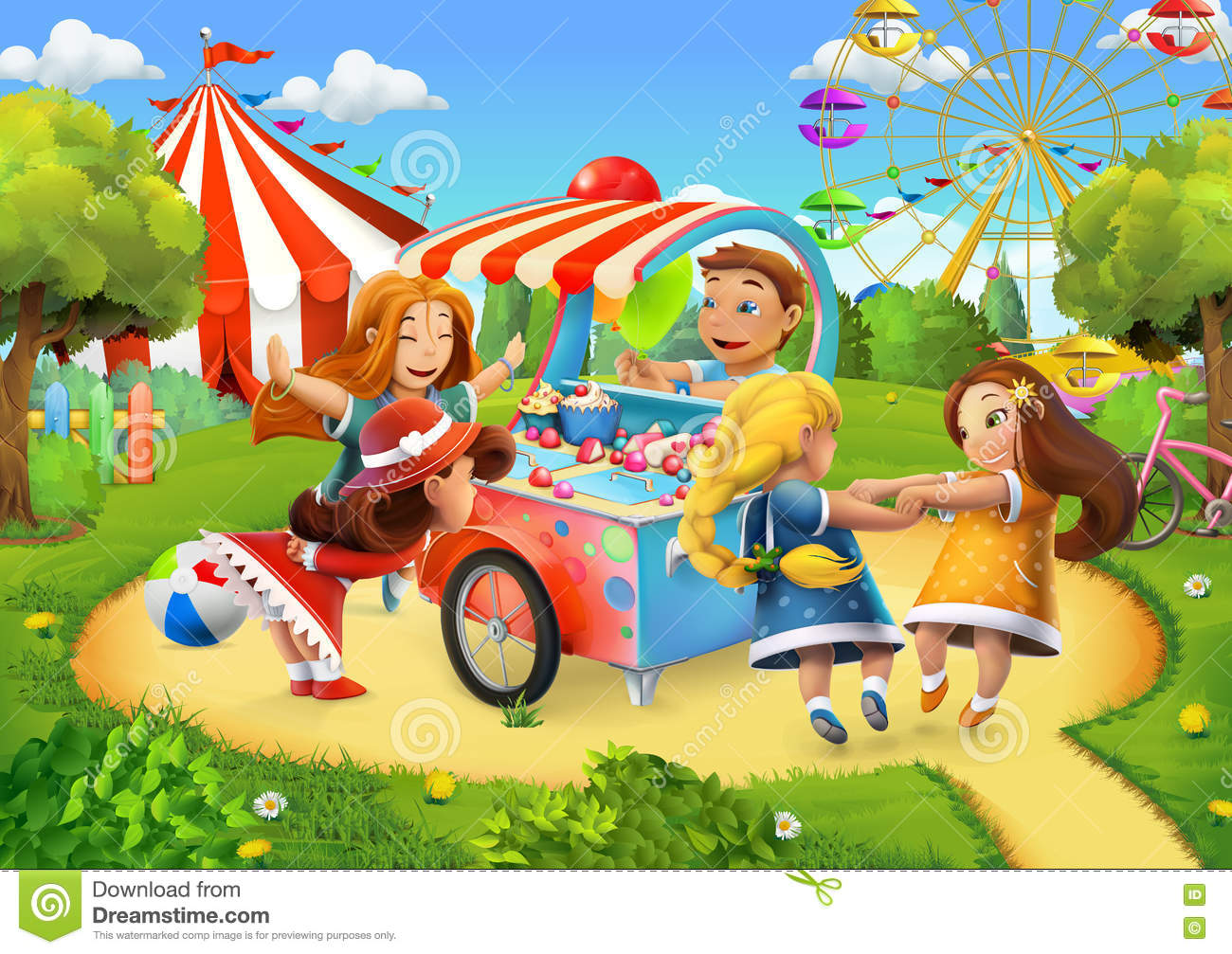Cute Kid Wallpapers Free Download Park Playground Background Stock Vector Image 72787962
