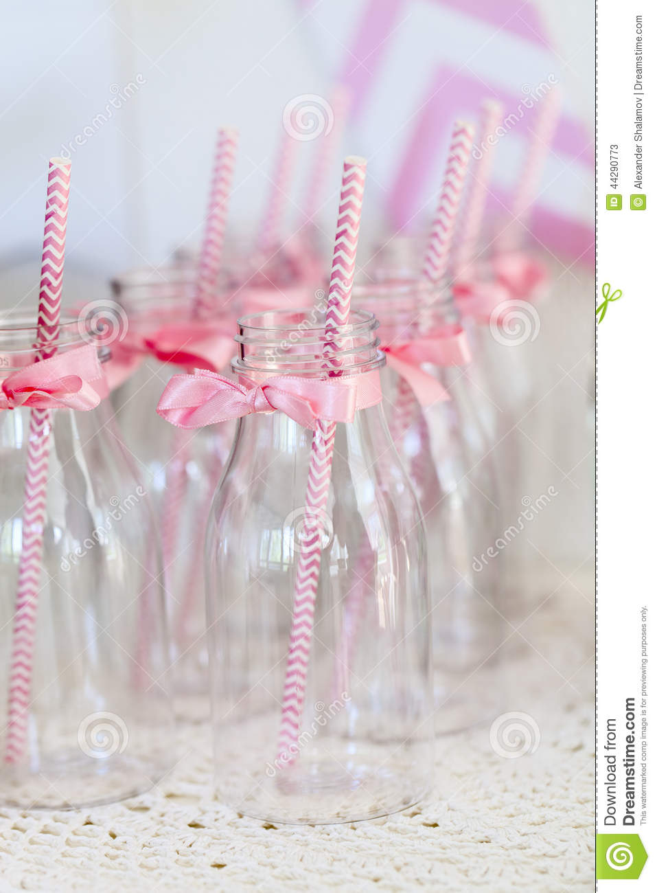 Milk Bottles For Decoration Party Decoration Ideas Stock Image Image Of Vintage 44290773