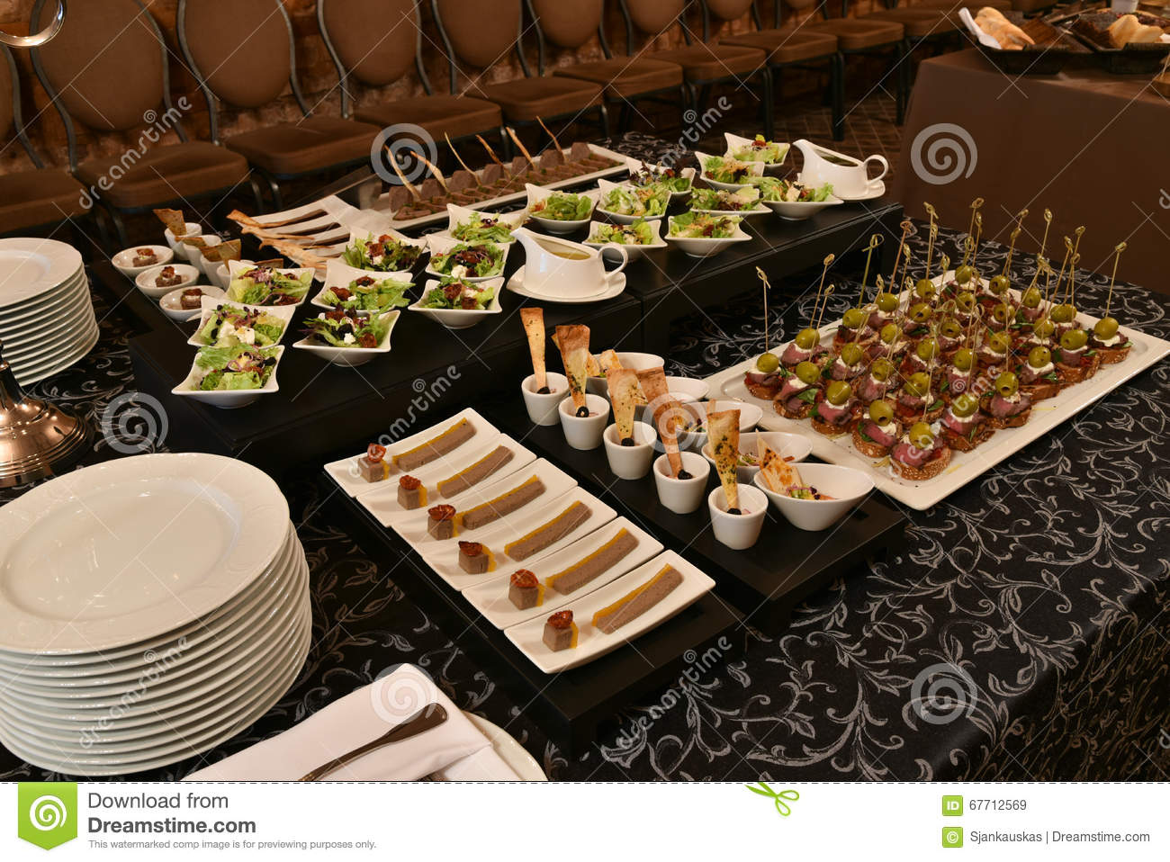 Table Snack Cuisine Party Table Setting Stock Photo Image 67712569