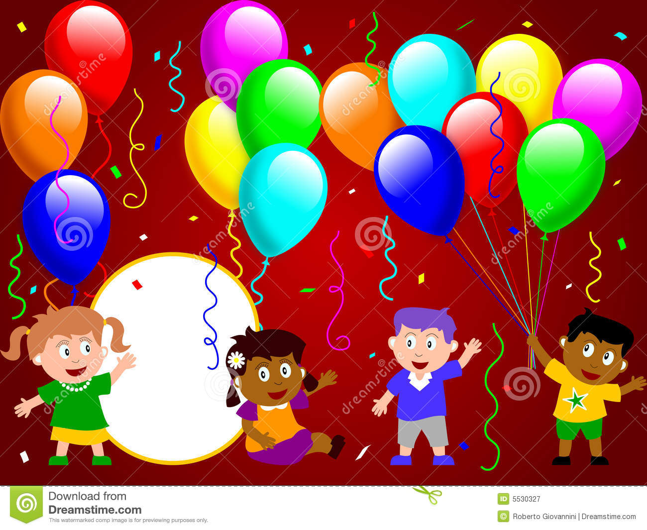 Party Time Party Time For Kids 3 Stock Illustration Illustration Of