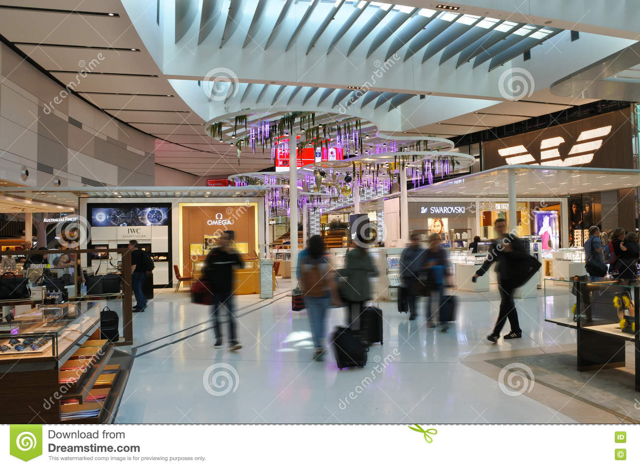 Sydney Airport Shops Passengers At Sydney Airport Sydney Australia Editorial