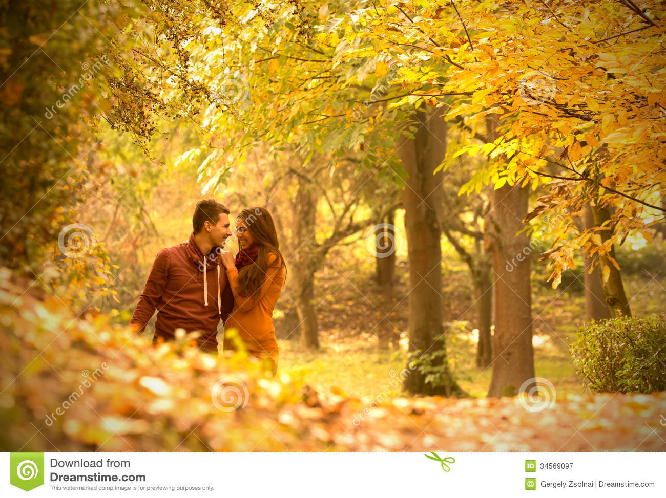 Falling Leaves Wallpaper Animated Passionate Love Stock Image Image Of Colorful Adult
