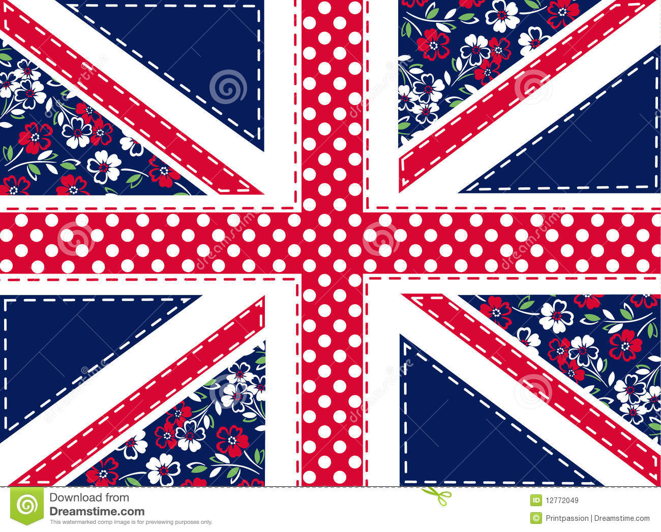 Cute Wallpaper Patterns Patchwork Union Jack Stock Vector Image Of Chearm Love