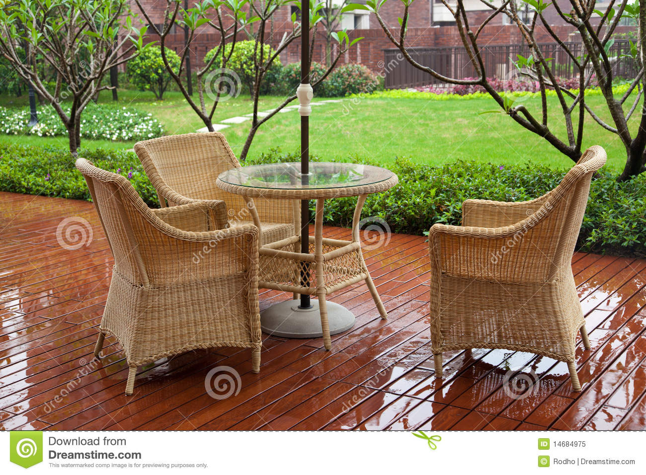 Backyard Chairs Patio Chairs Stock Image Image Of Floor Exteriors Furniture