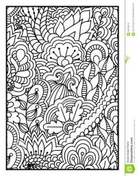 Pattern For Coloring Book. Black And White Background With ...