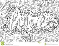 Pattern For Coloring Book. Ethnic,woman, Retro, Doodle ...