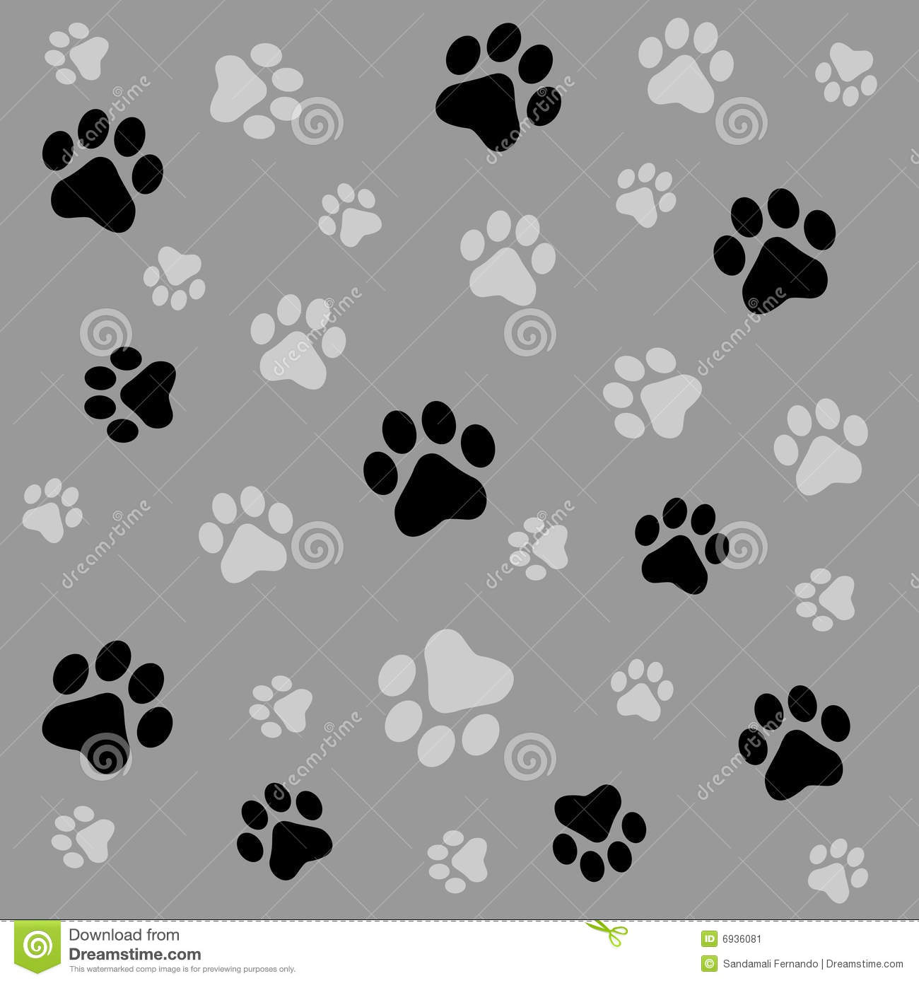 Cute Cartoon Animal Wallpaper Paw Prints Background Stock Vector Illustration Of Paint