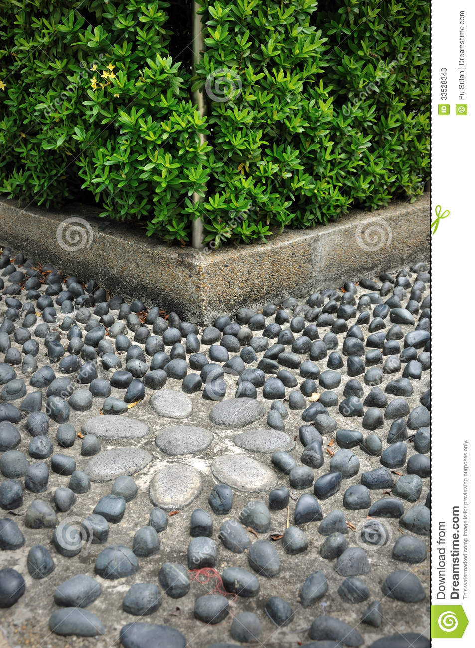 Vorgarten Nordseite Gestalten Pebble Stone Path Stock Image. Image Of Destination