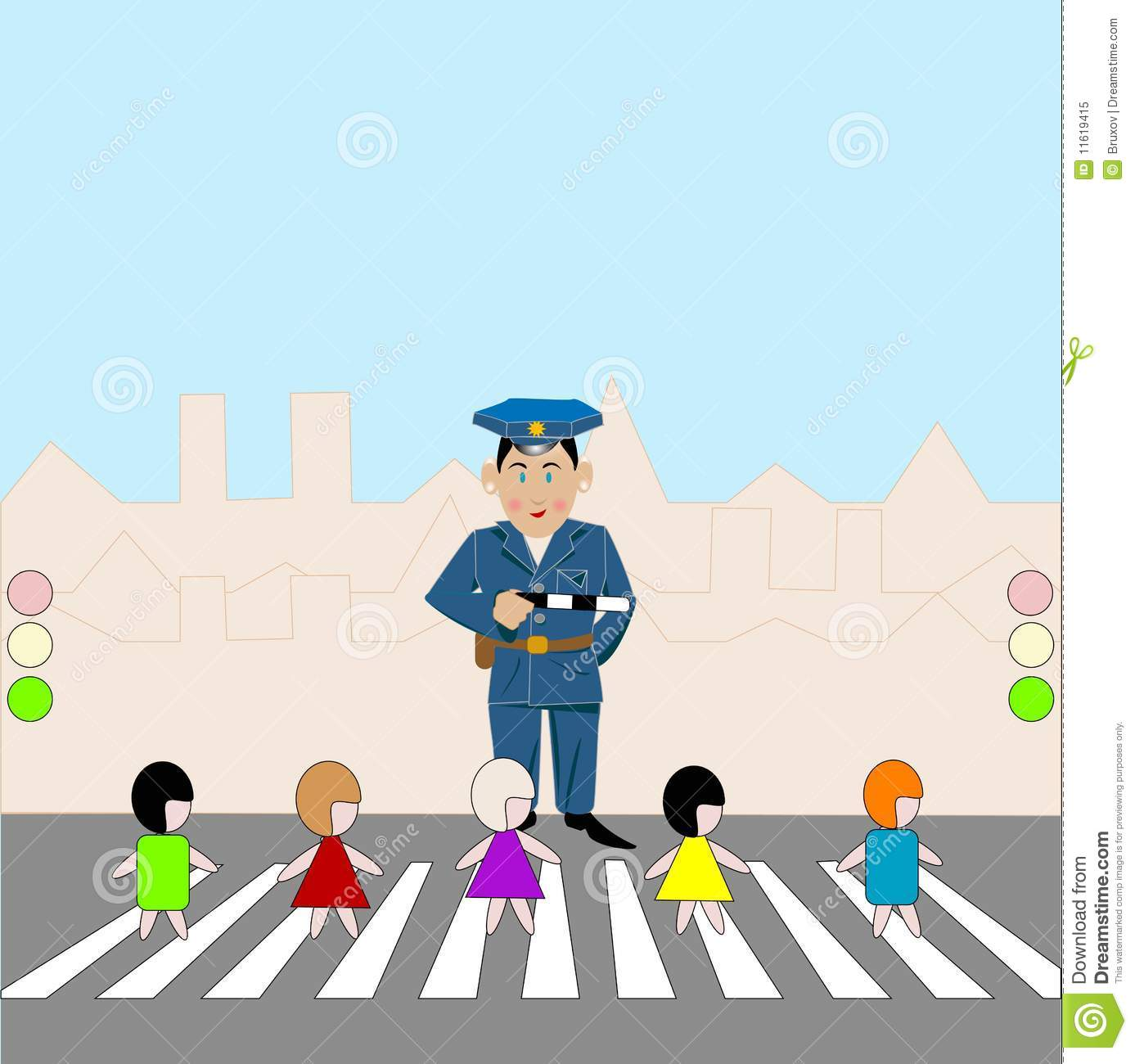 Road Crossing Clipart Pedestrian Crossing Royalty Free Stock Photo Image 11619415