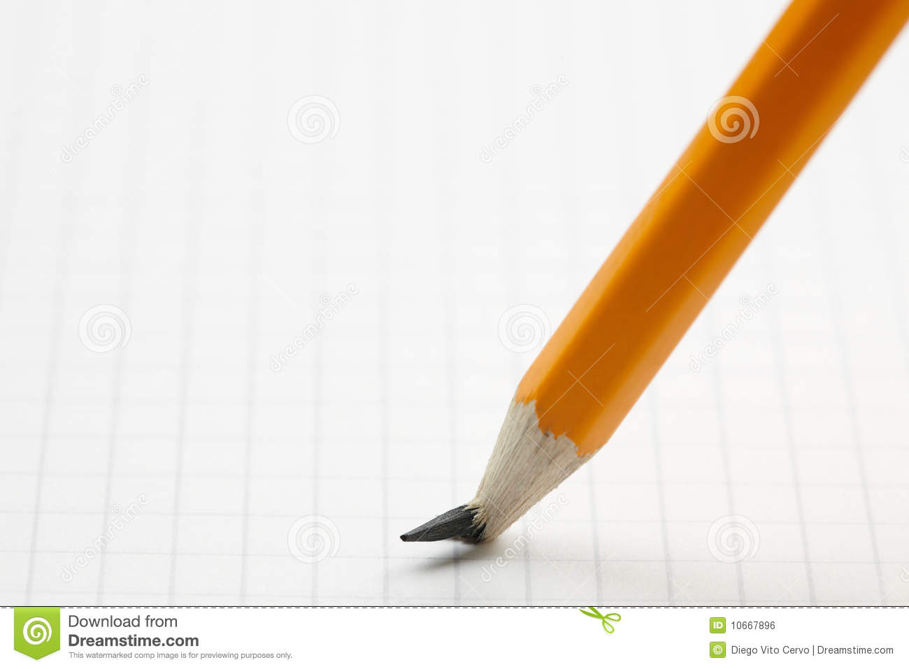 Pencil With Broken Point Stock Photo Image Of Object