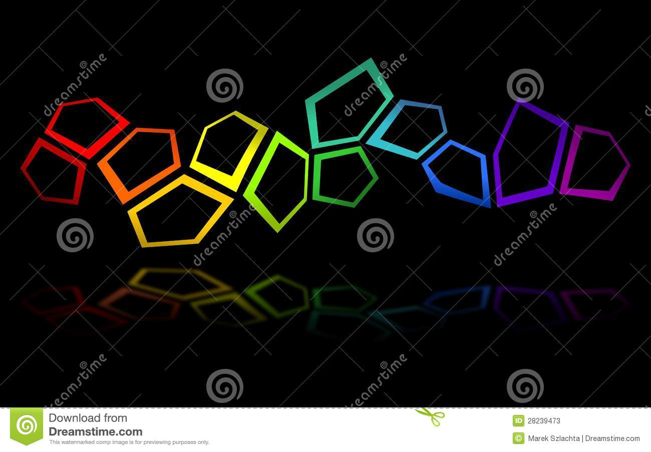 3d Wallpaper Colourful Pentagon Background 2 Stock Photos Image 28239473