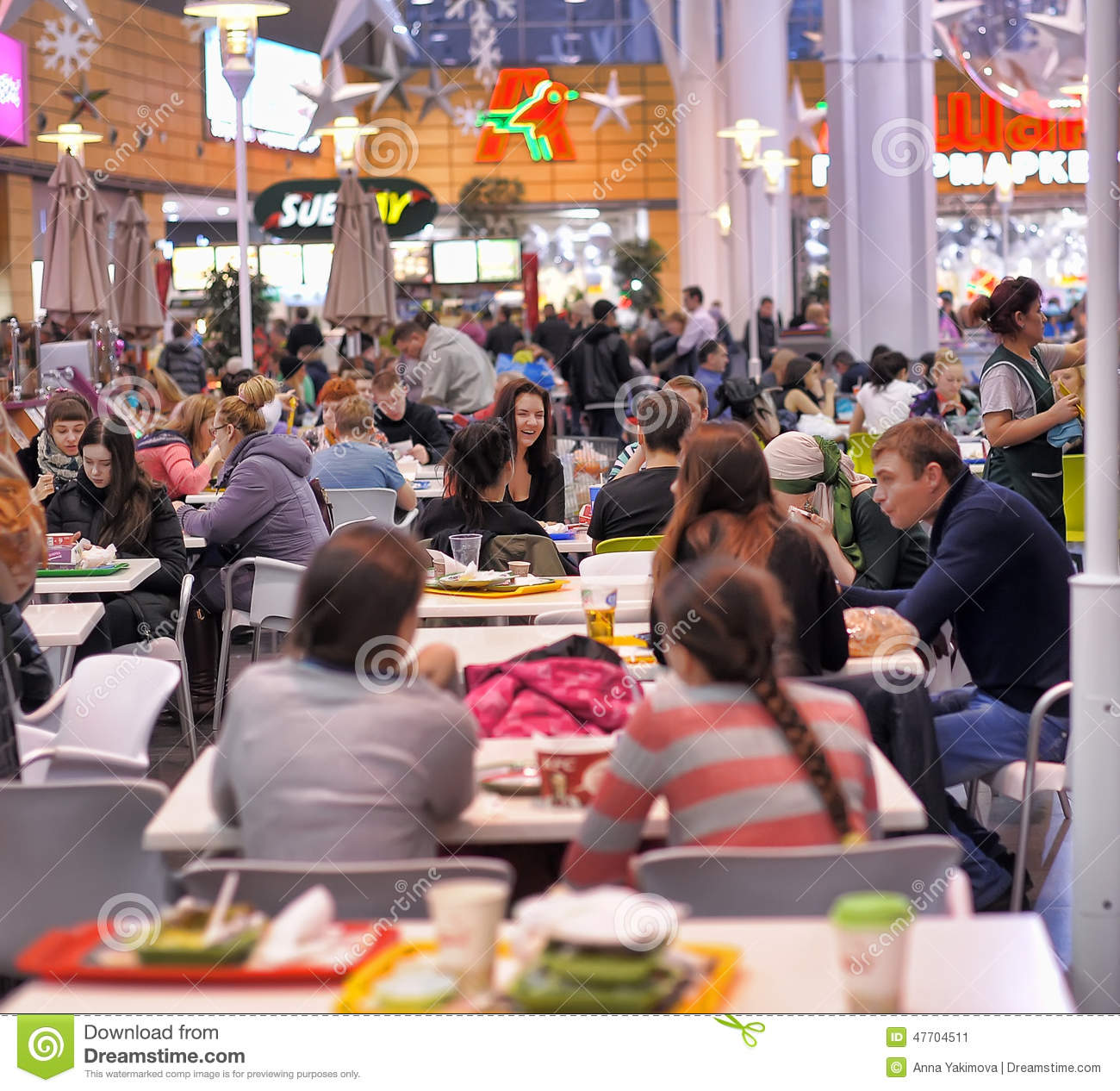 Augsburg Shopping People Sitting In Cafe In Shopping Center Editorial Photo Image
