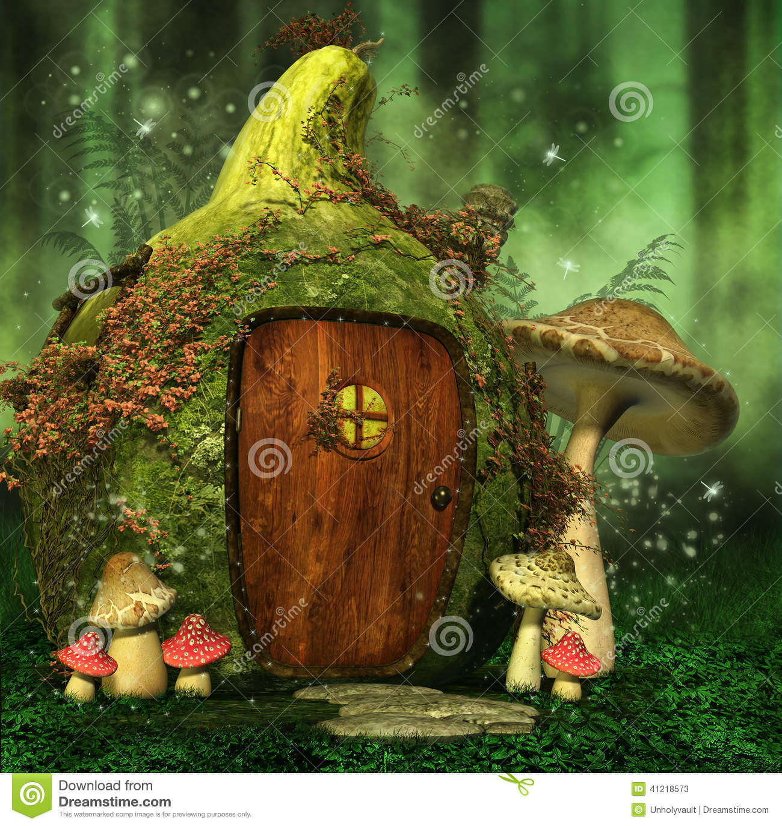 Fall Fairys Wallpapers Peque 241 A Casa De Hadas Con Las Setas Stock De Ilustraci 243 N