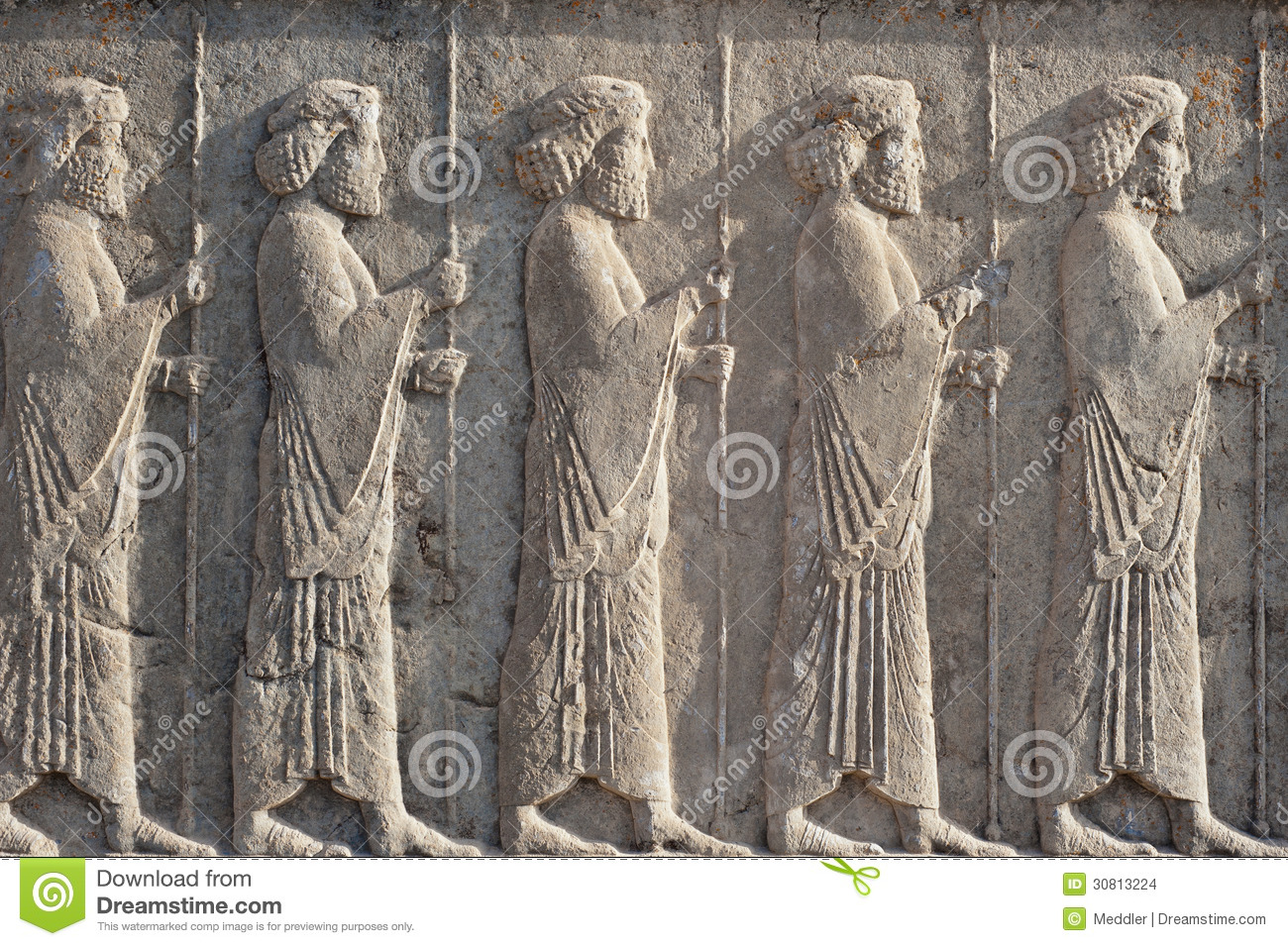 Persan Ancien Stock Images Persian Relief Image 30813224
