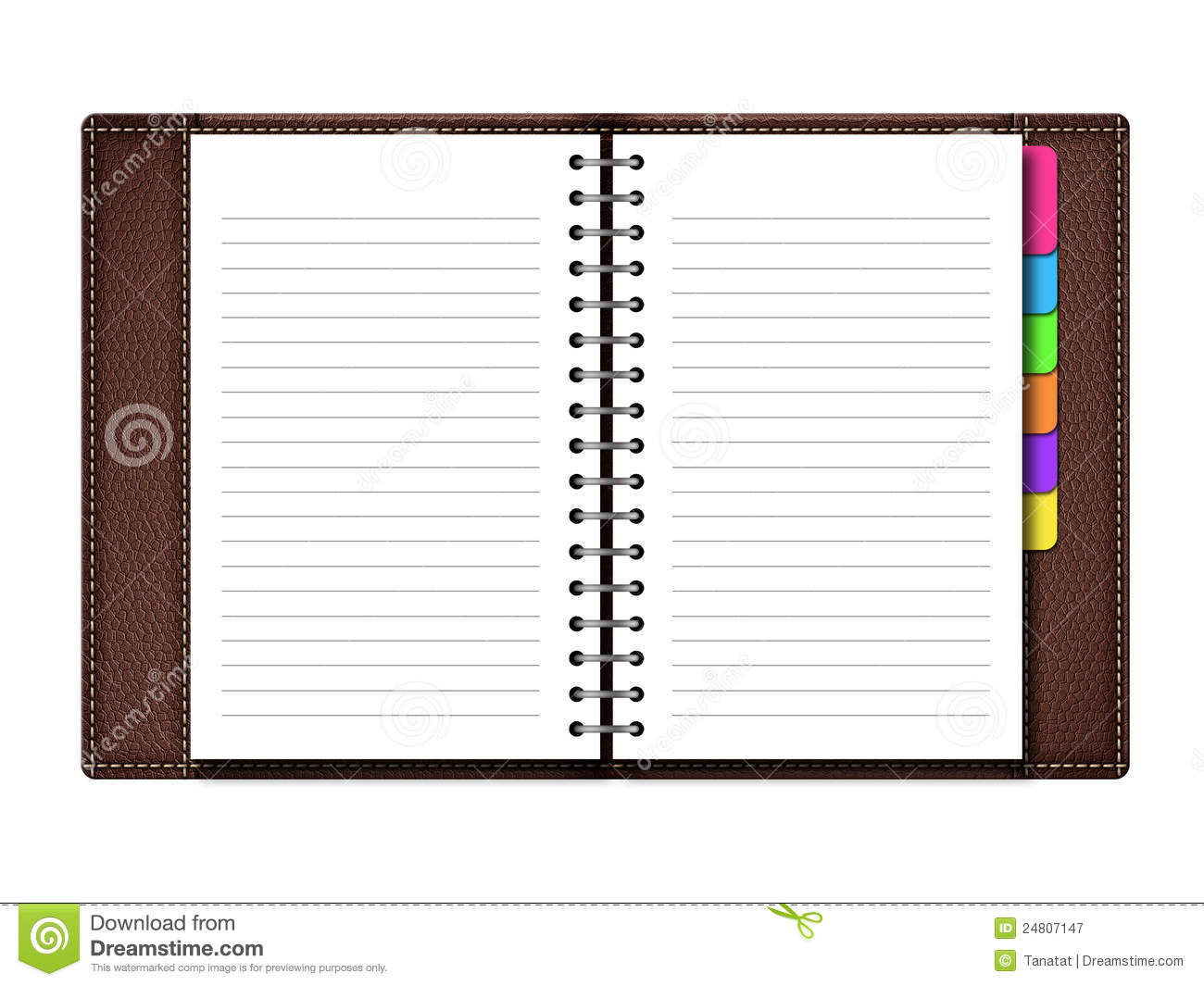 Personal Organizer Personal Organizer On White Background Stock Illustration
