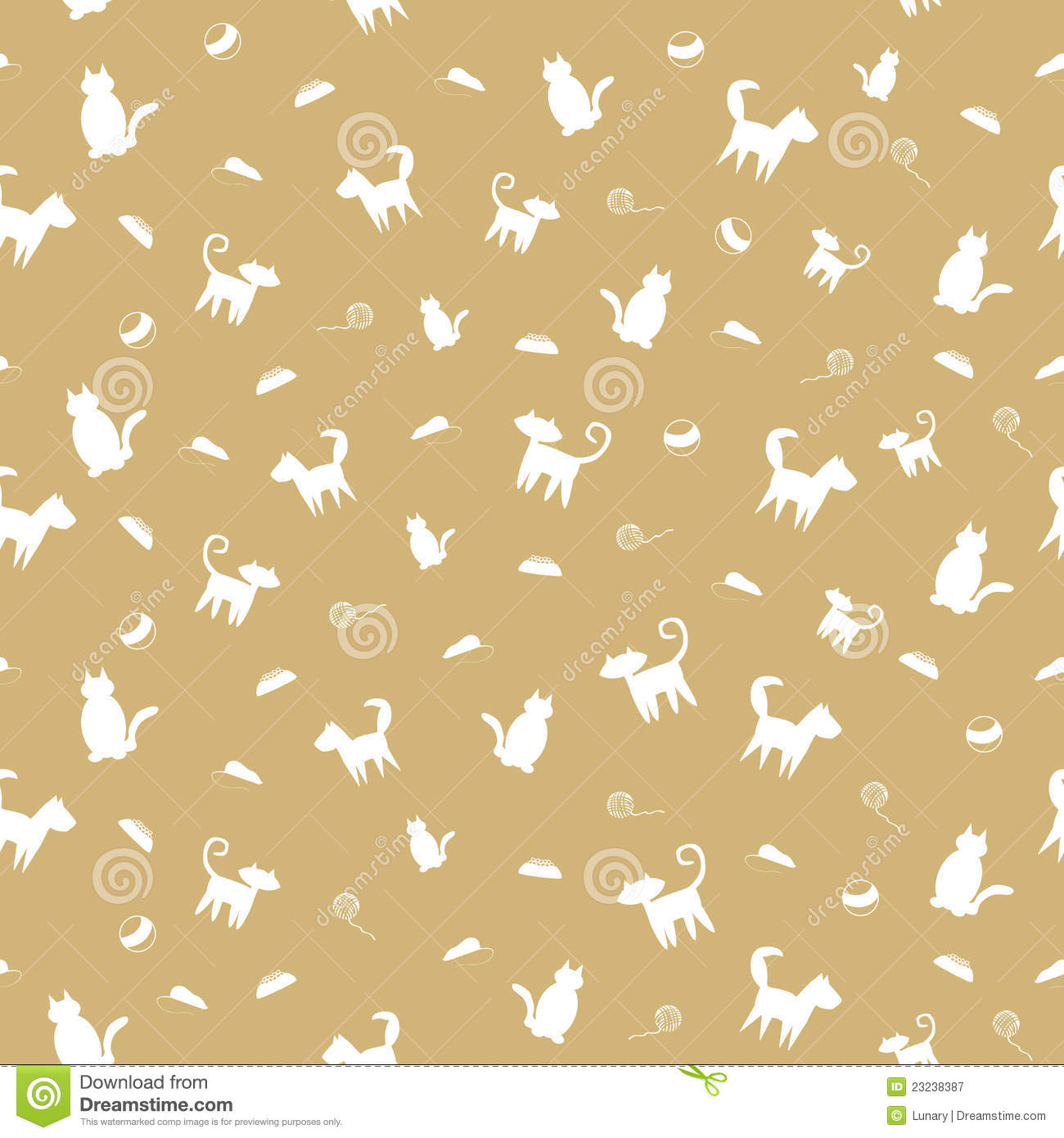 Cute Paw Print Wallpaper Pets Seamless Pattern Stock Vector Illustration Of
