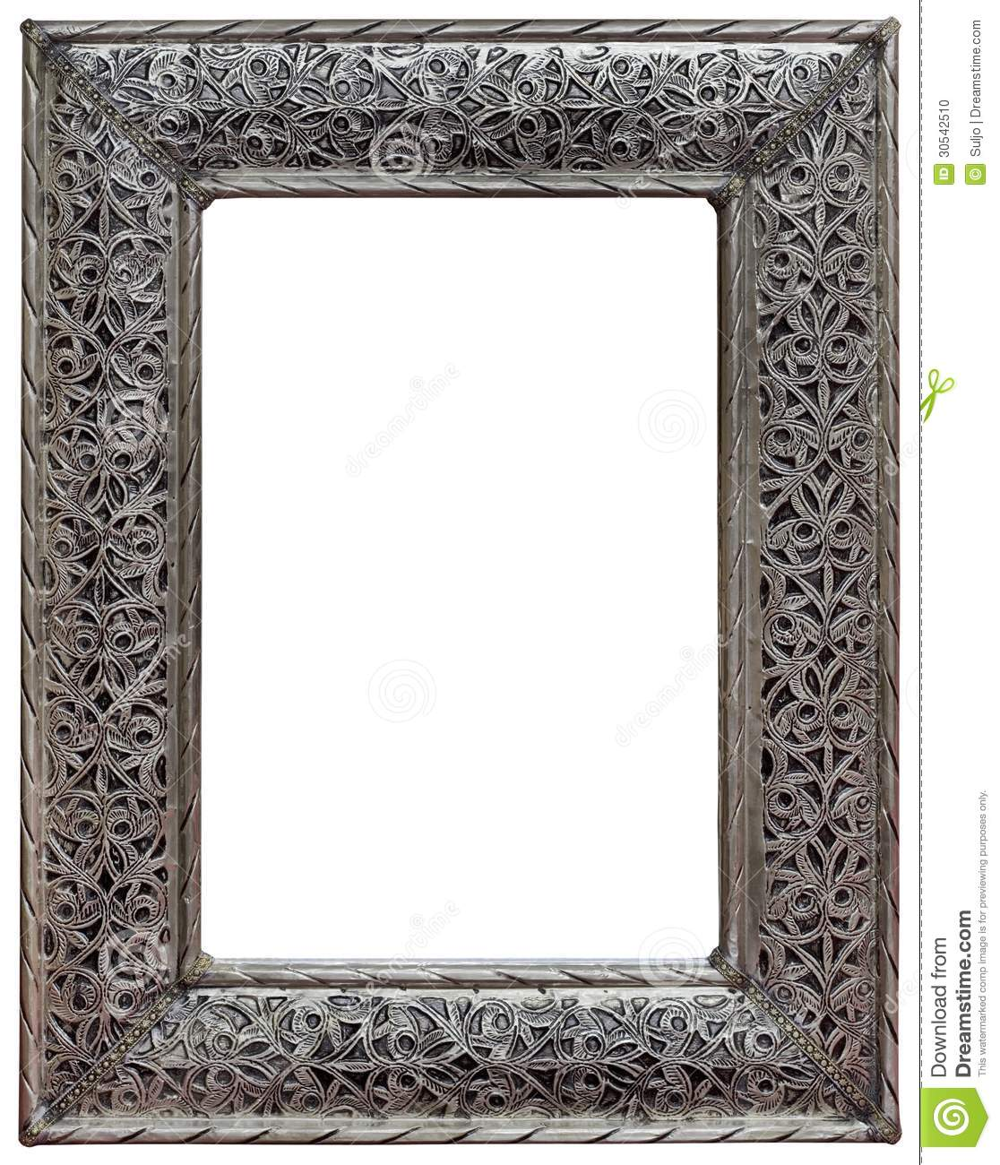 Spiegel Fotolijst Pewter Mirror Frame Cutout Stock Photo Image 30542510
