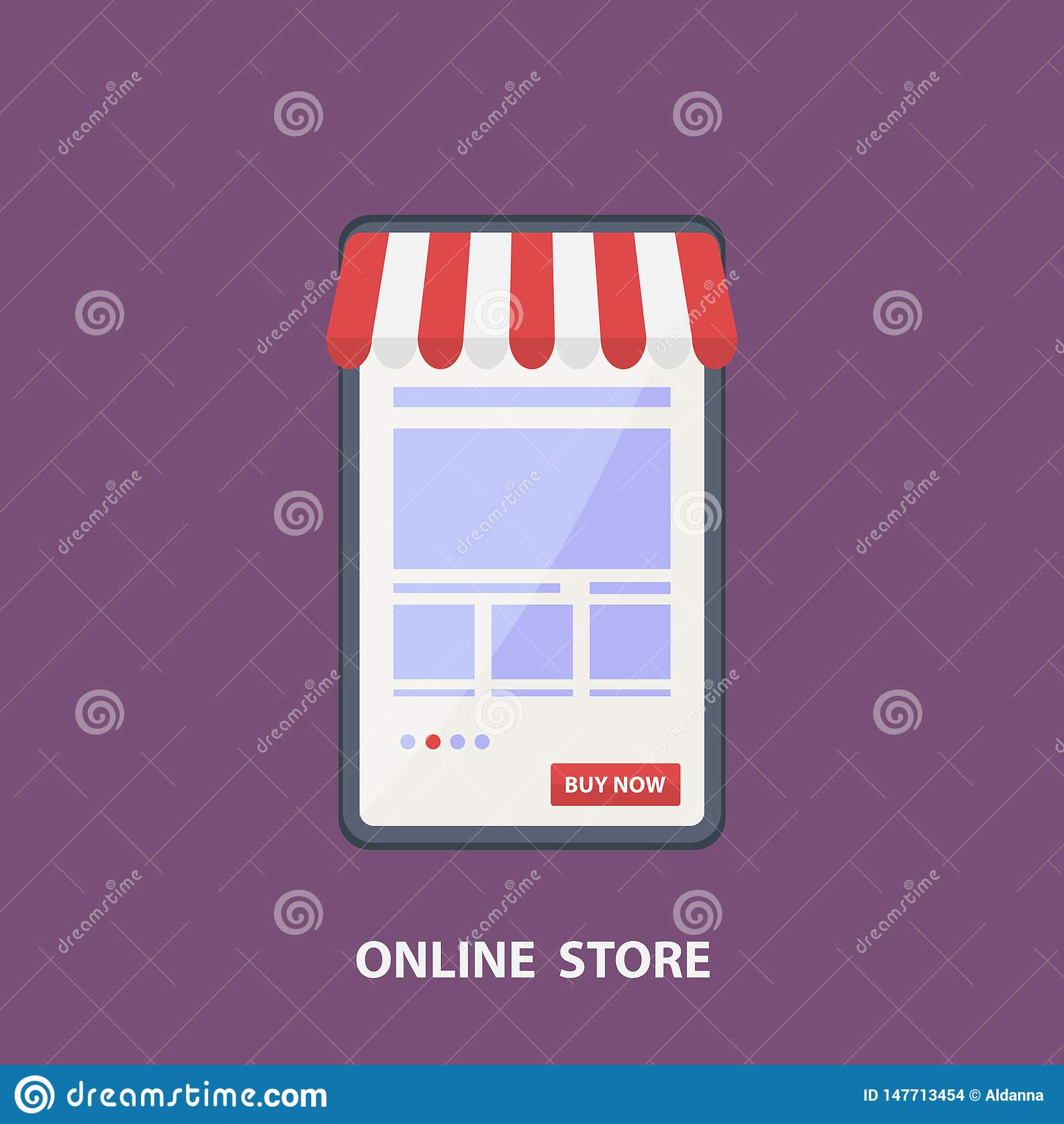 Poster Online Kaufen Phone Store.vector Flat Design Shopping Concept,buying Online And E-commerce Poster,online Shop Stock Vector - Illustration Of Order, Graphic: 147713454