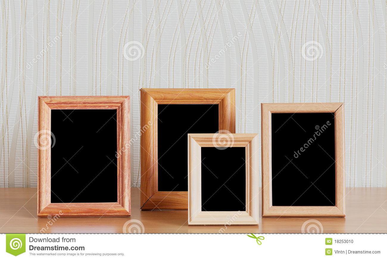 Photo Frames On Table Stock Photo Image Of Indoors Space