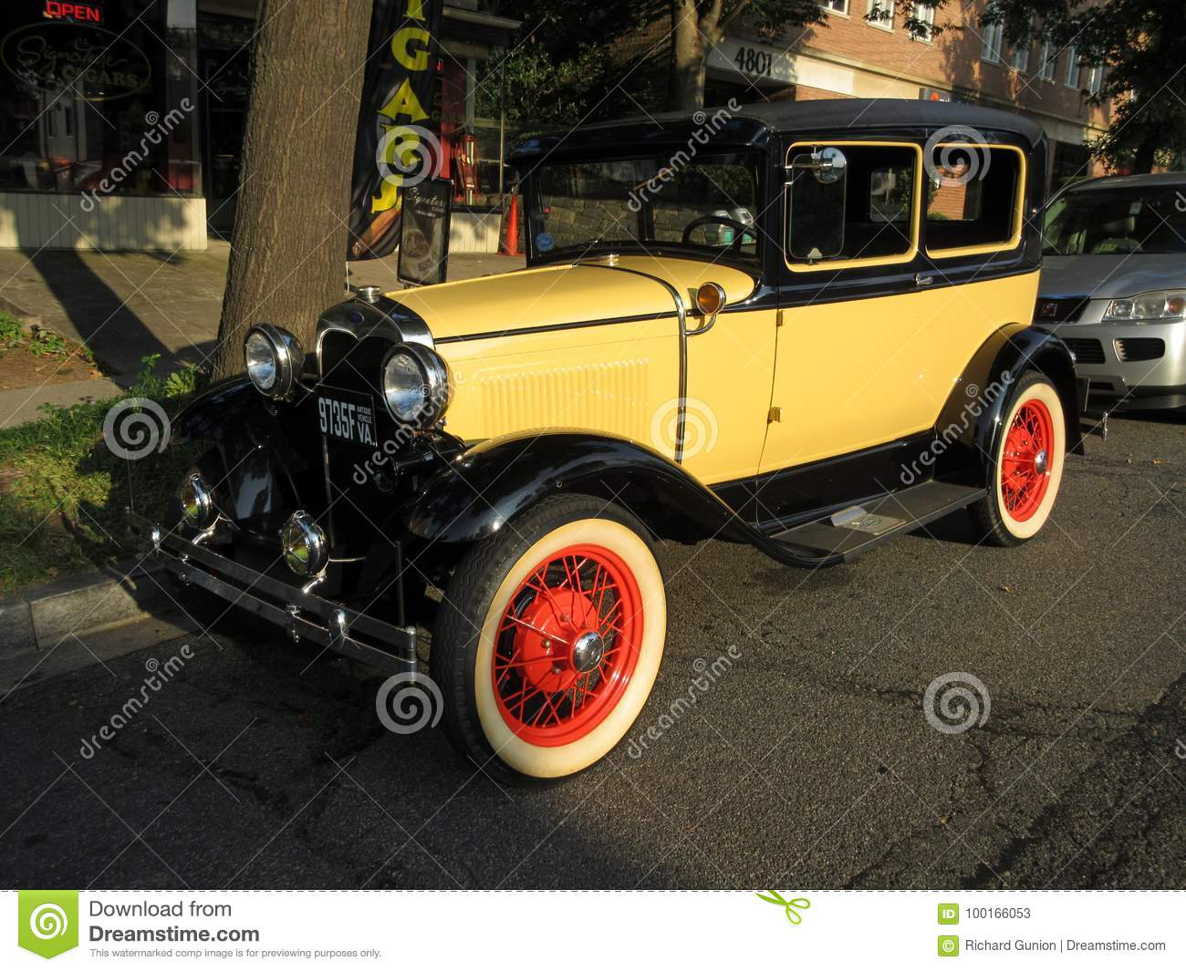Lit Model Yellow Model A Ford Automobile Editorial Stock Photo Image Of