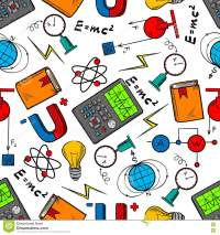 Physics Science Seamless Pattern Background Stock Vector ...