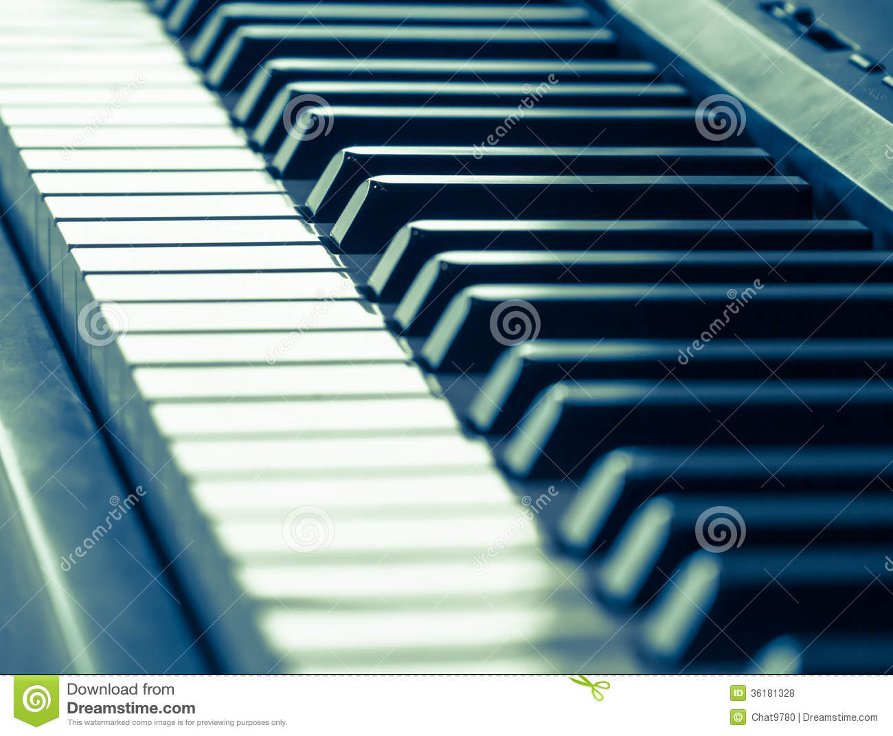 Cool Keys Keyboard Piano Keys In Cool Tone Royalty Free Stock Photos Image