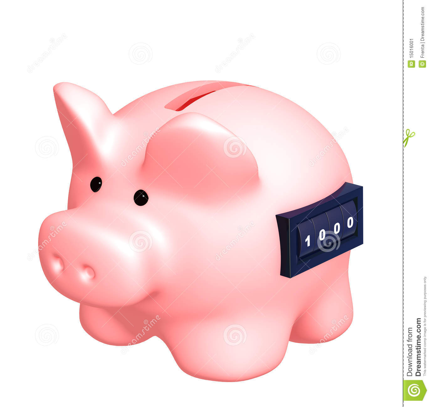 Piggy Bank With Counter Piggy Bank Stock Image Image 15016001