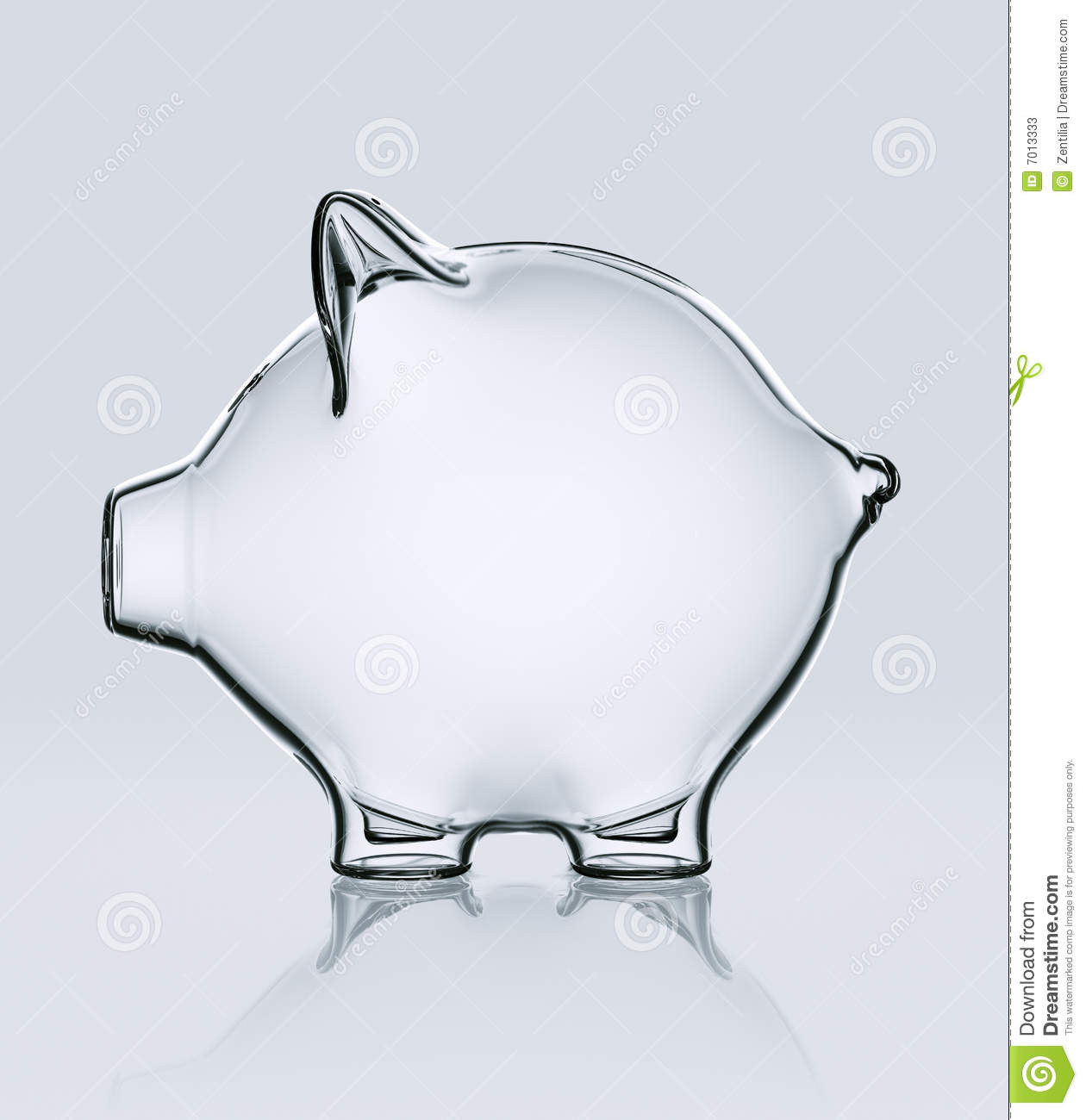 Piggy Glass Piggy Bank In Glass Stock Photos Image 7013333