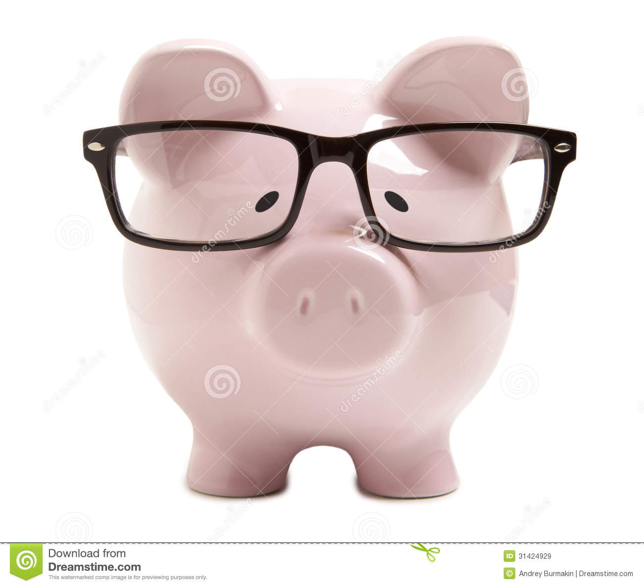 Piggy Glass Piggy Bank With Glasses Royalty Free Stock Images Image