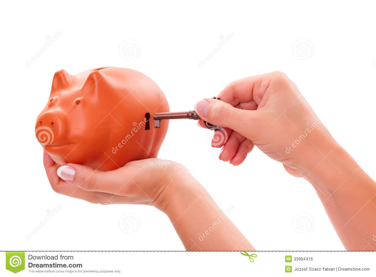Piggy Banks With Locks Piggy Bank Locking Unlocking Royalty Free Stock Image