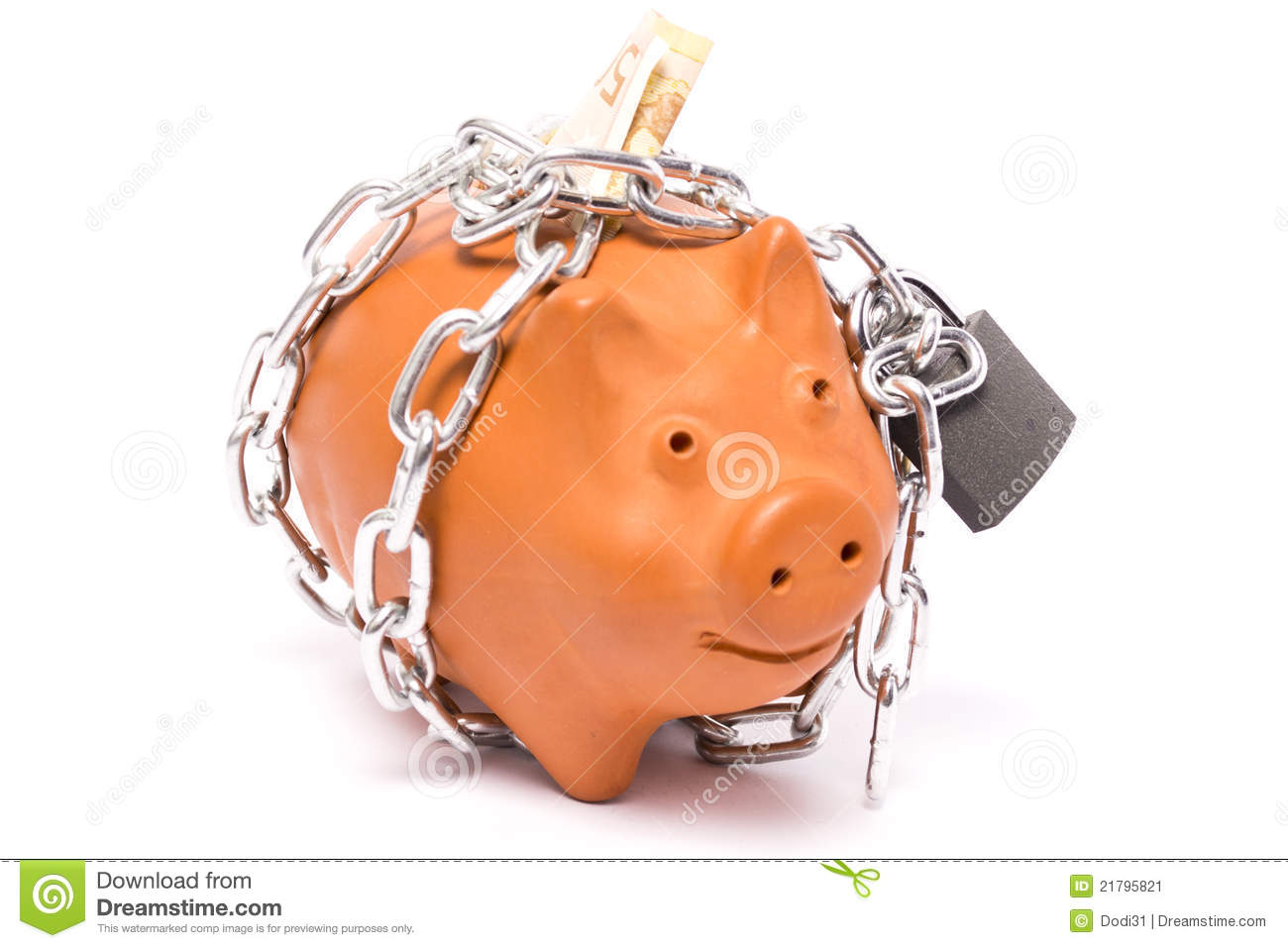 Piggy Banks With Locks Piggy Bank Locks Stock Image Image 21795821