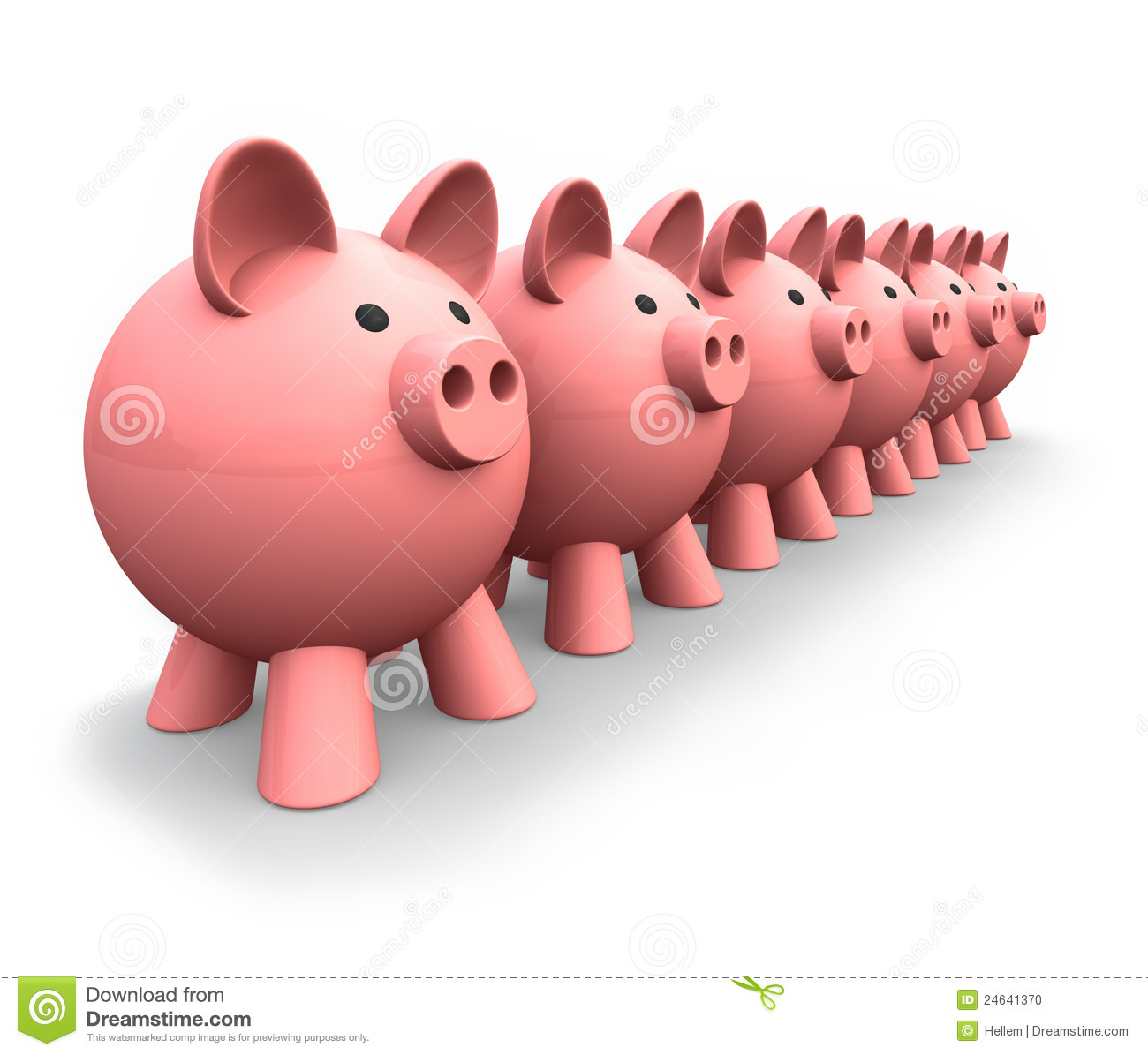 Animal Coin Banks Piggy Banks Stock Illustration Illustration Of Animal