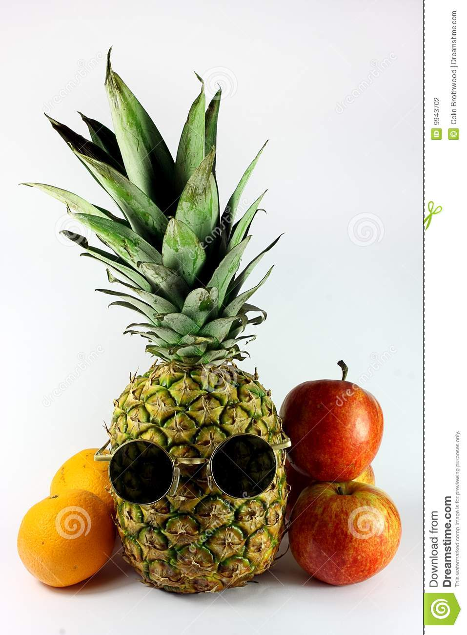 Summer Girl Wallpaper Pineapple With Sunglasses And Fruit Stock Photography