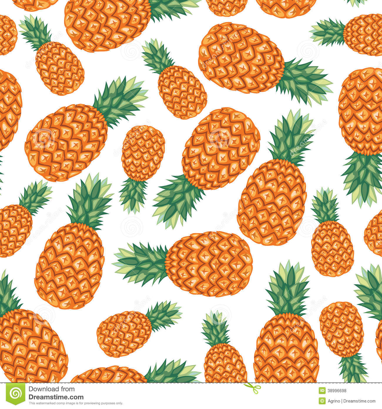 Cute Pineapple Iphone Wallpaper Pineapples Fruit Pattern Seamless Stock Vector Image