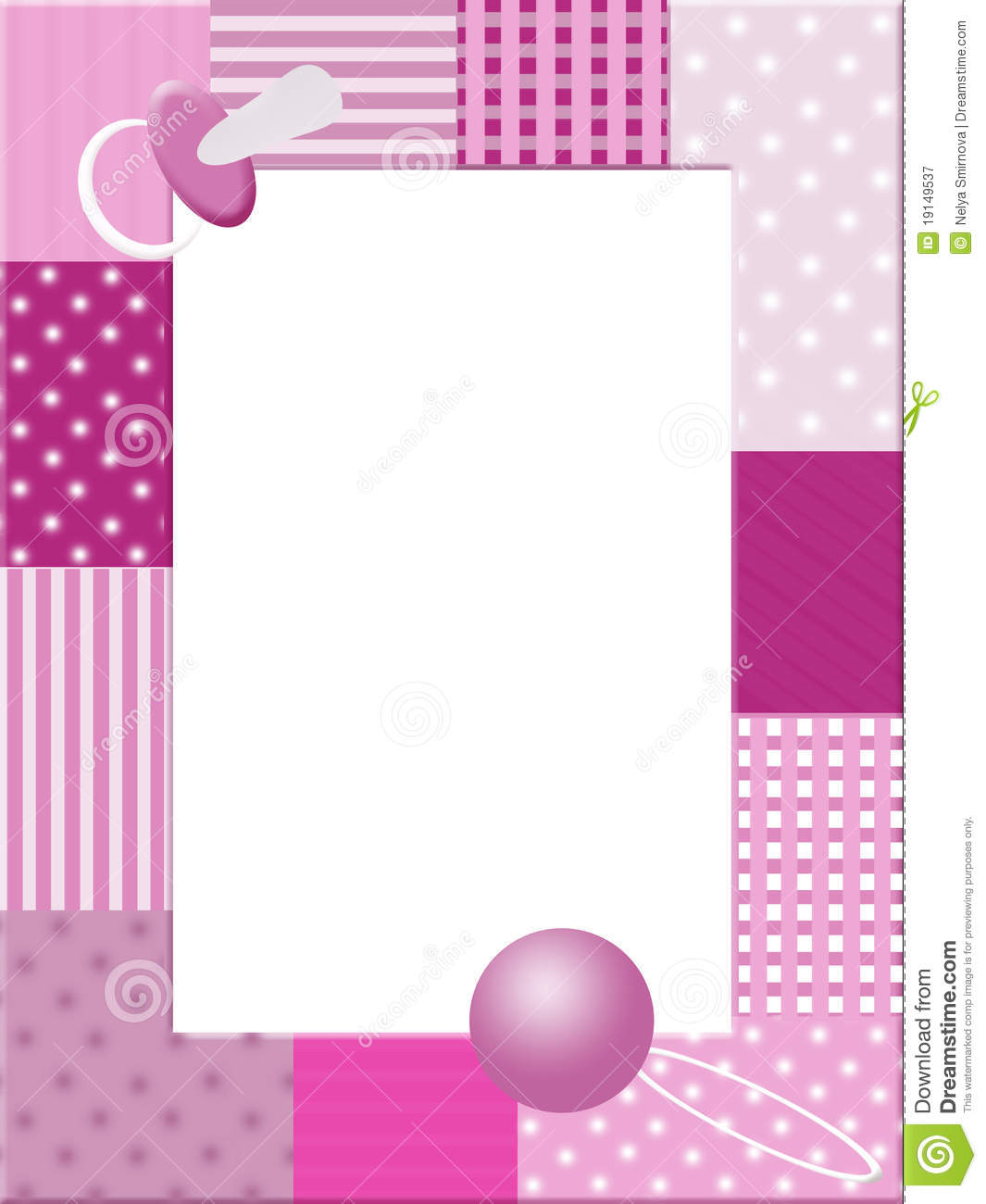 Cuadros Para Fotos Multiples Pink Babies Photo Frame Royalty Free Stock Photography