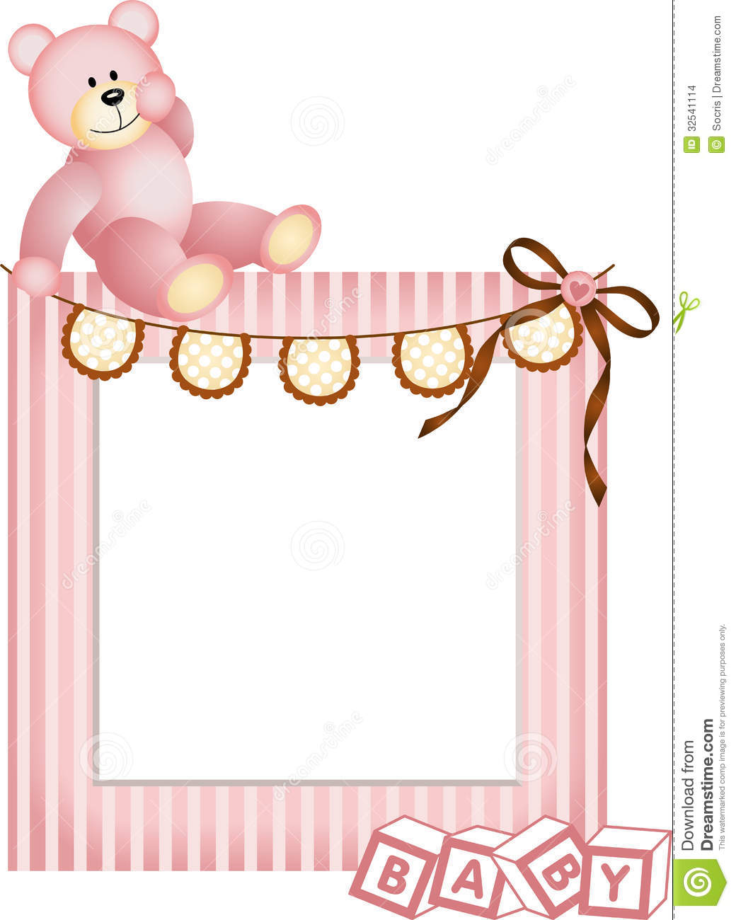 Girl Baby Shower Wallpaper Pink Baby Frame Stock Images Image 32541114